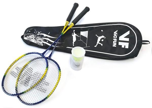 Badmintonset Federball.-Set Marine Deluxe Edition (2 Schläger + Tragetasche)