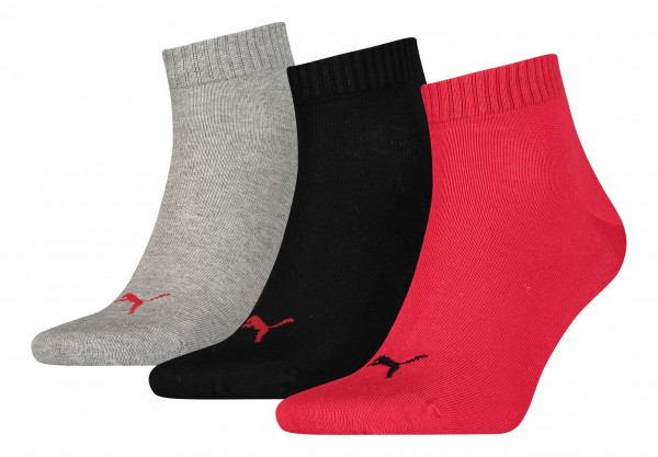 PUMA Quartersocken Quarter Plain