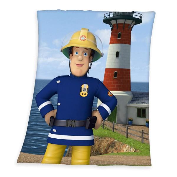 Fleecedecke Feuerwehrman Sam Leuchtturm