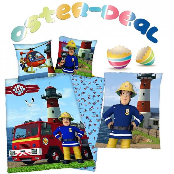 Oster-Deal Feuerwehrman Sam Bettwäsche und Fleecedecke